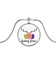 Easter Hunting Season Metallic Circle Necklace thumbnail