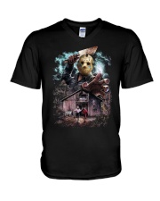 Run Run Run V-Neck T-Shirt thumbnail