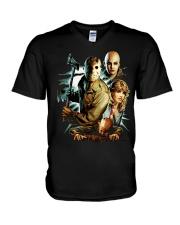 Horror Character 3 V-Neck T-Shirt thumbnail