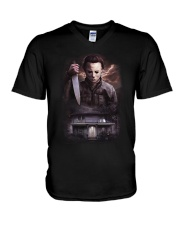 Horror Characters V-Neck T-Shirt thumbnail