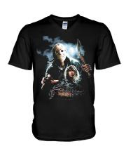 Horror Character 4 V-Neck T-Shirt thumbnail