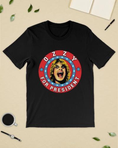 ozzy for president t shirt