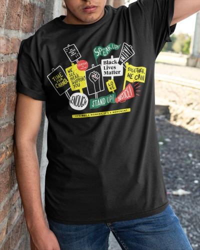 starbucks b l m shirt