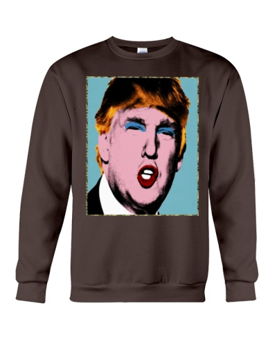 trump with makeup on his shirt