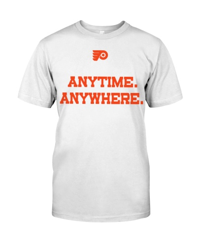 Flyers Anytime Anywhere T Shirt Philadelphia