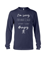 I'm sorry for what I said Long Sleeve Tee front