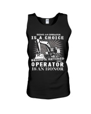 Being a Retired Operator Unisex Tank thumbnail