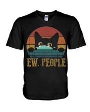 Ew People Cat V-Neck T-Shirt thumbnail