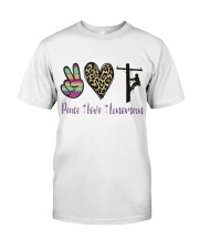 Peace Love Lineman Classic T-Shirt thumbnail