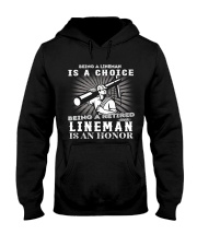 Being A Retired Lineman Hooded Sweatshirt thumbnail