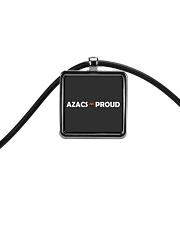 AZACS - Proud 2 Cord Rectangle Necklace thumbnail
