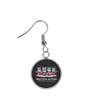 AZACS - Wolf Pack Pups 2  Circle Earrings thumbnail
