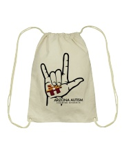 AZACS - I Love AZACS 1 Drawstring Bag thumbnail
