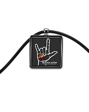 AZACS - I Love AZACS 2 Cord Rectangle Necklace thumbnail