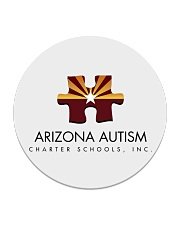 AZACS - Arizona Autism Charter School 1  Circle Coaster thumbnail
