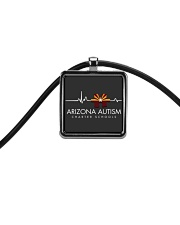 AZACS - Pulse 2 Cord Rectangle Necklace thumbnail