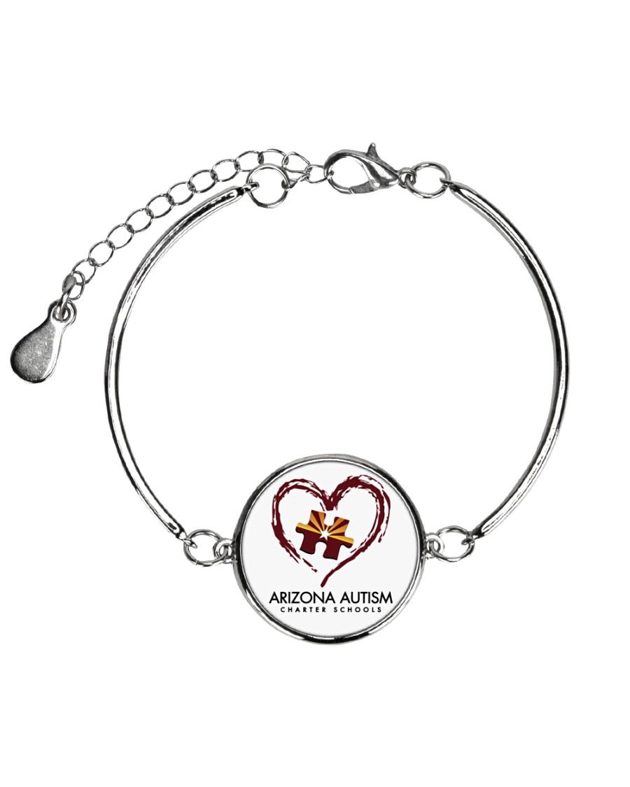 AZACS - Heart 1 Metallic Circle Bracelet
