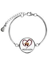 AZACS - Heart 1 Metallic Circle Bracelet front