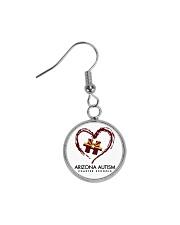 AZACS - Heart 1 Circle Earrings thumbnail