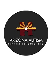 AZACS - Arizona Autism Charter School 2 Circle Coaster thumbnail