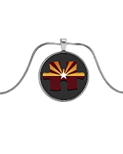 AZACS - Arizona Autism Charter School 2 Metallic Circle Necklace thumbnail