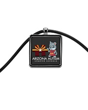 AZACS - Puzzle Pup 2  Cord Rectangle Necklace thumbnail