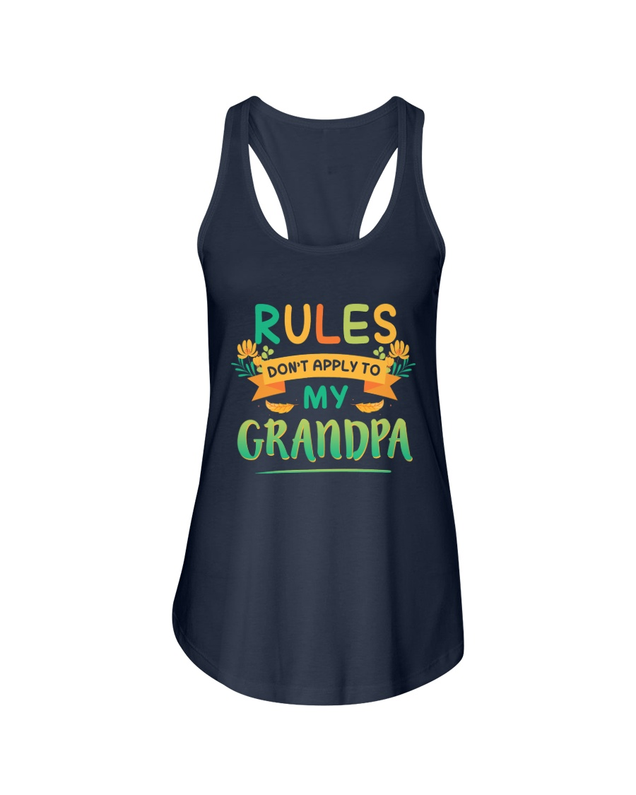 RULES DON'T APPLY TO MY GRANDPA Ladies Flowy Tank