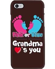 Pink Or Blue Grandma Loves You Phone Case thumbnail