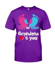 Pink Or Blue Grandma Loves You Classic T-Shirt thumbnail