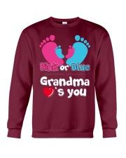 Pink Or Blue Grandma Loves You Crewneck Sweatshirt thumbnail