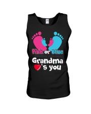 Pink Or Blue Grandma Loves You Unisex Tank thumbnail