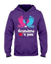 Pink Or Blue Grandma Loves You Hooded Sweatshirt thumbnail