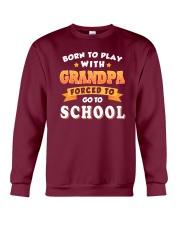 BORN TO PLAY WITH GRANDPA Crewneck Sweatshirt thumbnail