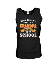 BORN TO PLAY WITH GRANDPA Unisex Tank thumbnail