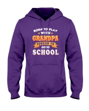 BORN TO PLAY WITH GRANDPA Hooded Sweatshirt thumbnail