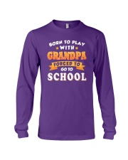 BORN TO PLAY WITH GRANDPA Long Sleeve Tee thumbnail