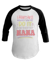 SPEAK TO MY NANA Baseball Tee thumbnail
