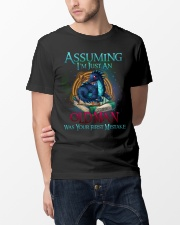ASSUMING I'M JUST AN OLD MAN WAS YOUR 1ST MISTAKE Classic T-Shirt lifestyle-mens-crewneck-front-14