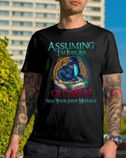ASSUMING I'M JUST AN OLD MAN WAS YOUR 1ST MISTAKE Classic T-Shirt lifestyle-mens-crewneck-front-8