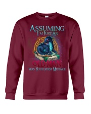 ASSUMING I'M JUST AN OLD MAN WAS YOUR 1ST MISTAKE Crewneck Sweatshirt thumbnail