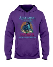 ASSUMING I'M JUST AN OLD MAN WAS YOUR 1ST MISTAKE Hooded Sweatshirt thumbnail