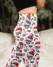 Santa skull Christmas High Waist Leggings aos-high-waist-leggings-lifestyle-11