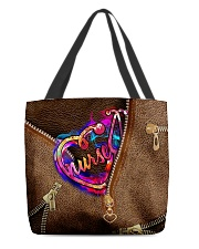 Nurse Leather Pattern Print All-over Tote back