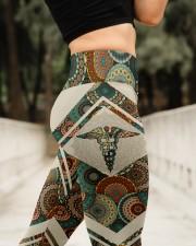 Nurse Vintage Leggings  High Waist Leggings aos-high-waist-leggings-lifestyle-11
