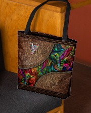 Coloful Hummingbirds Leather Pattern Print  All-over Tote aos-all-over-tote-lifestyle-front-02