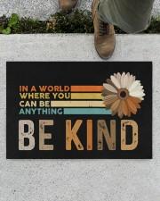"""Be Kind Doormat 22.5"""" x 15""""  aos-doormat-22-5x15-lifestyle-front-01"""