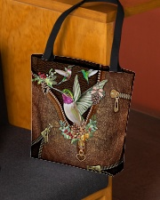 Hummingbird Leather Pattern Print  All-over Tote aos-all-over-tote-lifestyle-front-02