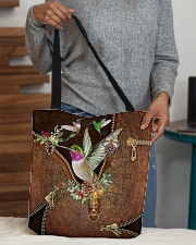 Hummingbird Leather Pattern Print  All-over Tote aos-all-over-tote-lifestyle-front-10