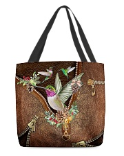 Hummingbird Leather Pattern Print  All-over Tote back