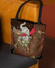 All I Want For Christmas Leather Pattern Print All-over Tote aos-all-over-tote-lifestyle-front-02